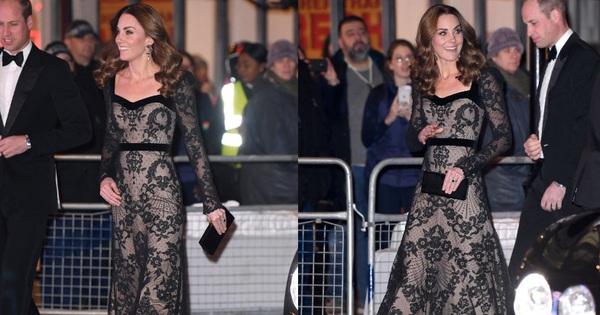 Xúng xính váy ren ''tưởng hở mà kín'', Công nương Kate siêu gợi cảm nhưng vẫn tinh tế chẳng chê được điểm nào