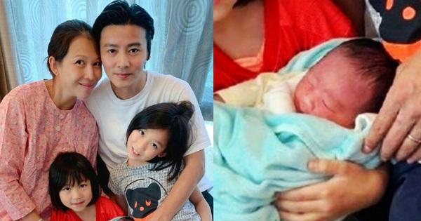 ''Hoàng hậu'' Thái Thiếu Phân vỡ oà hạnh phúc khi sinh con thứ 3 ở tuổi 46, gương mặt bé hội tụ nét đẹp cả bố lẫn mẹ