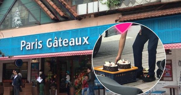 Khách hàng phát hoảng khi bánh ngọt tiệm Paris Gateaux bị nhân viên đặt thẳng xuống vỉa hè, đại diện thương hiệu lên tiếng