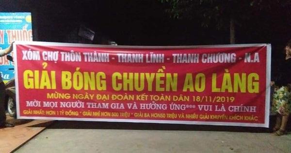 """Xôn xao giải bóng chuyền ao làng """"vui là chính"""" có tổng giải thưởng gần 2 tỷ đồng ở Nghệ An khiến dân mạng trầm trồ"""