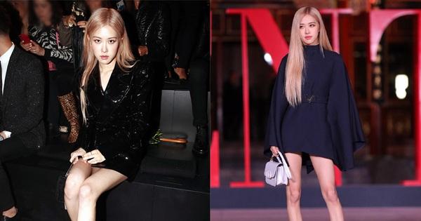 Là nhàm chán hay cool ngầu khi 90% những lần đi sự kiện thời trang, Rosé đều bê nguyên công thức tóc vàng – đồ đen?