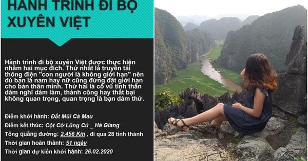 """Cô gái miền Tây lên FB tìm """"nhà tài trợ"""" để chuẩn bị đi bộ xuyên Việt gần 2,500km trong 51 ngày: Dân mạng lập tức chia 2 phe"""