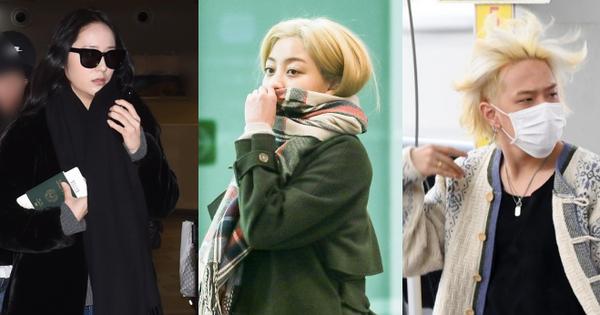 Quân đoàn sao Hàn đổ bộ sân bay: Jihyo có biểu hiện đáng lo hậu tin đồn chia tay, Krystal sang chảnh ngút ngàn