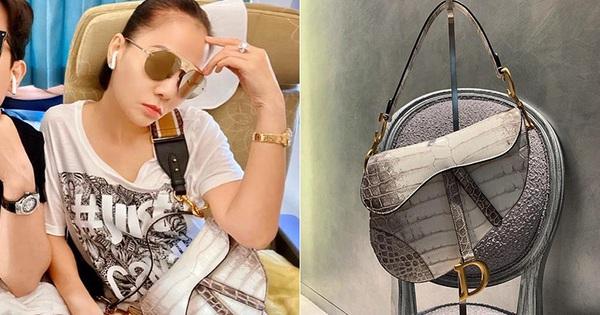 Chỉ đi tổng duyệt HHHV, Thu Minh cũng chiếm hết spotlight với chiếc túi Dior ''bạch tạng'' tiền tạ tiền tấn
