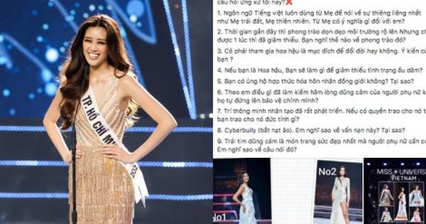 Rầm rộ tin câu hỏi ứng xử Hoa hậu Hoàn vũ Việt Nam 2019 bị lộ trước, Thuý Vân và Hương Ly đều trùng, các thí sinh được chuẩn bị sẵn?