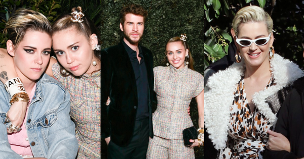 Tiền tiệc Oscar: Miley Cyrus tình tứ bên Kristen Stewart dù đến với chồng, Katy Perry khoe nhẫn khủng bên dàn siêu sao