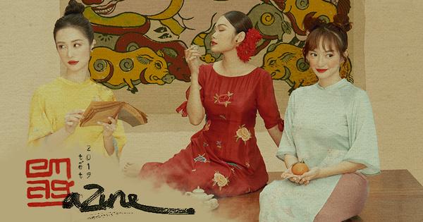 3 'ngọc nữ mới của showbiz' Jun Vũ, Kaity, Thanh Tú khoe vẻ đẹp thanh xuân trong bộ ảnh áo dài đầu năm