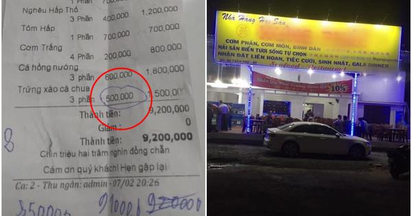 Choáng với bữa tối 9,2 triệu tại một nhà hàng ở Nha Trang: 1 dĩa trứng xào cà chua 500k, cơm trắng 200k