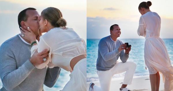 Sau khi khoe nhẫn siêu khủng, Jennifer Lopez tiếp tục gây ghen tị vì loạt ảnh cầu hôn đẹp như phim ngôn tình