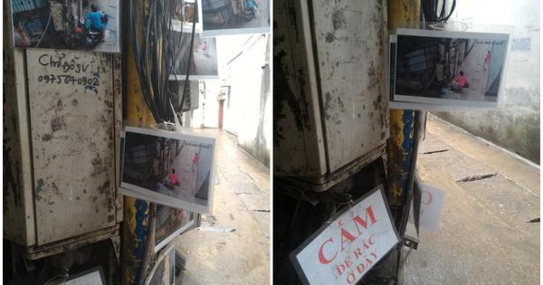 Cấm mãi không hết tình trạng đổ rác bừa bãi, khu phố lắp camera giám sát rồi in ảnh người vi phạm treo lên để cảnh cáo