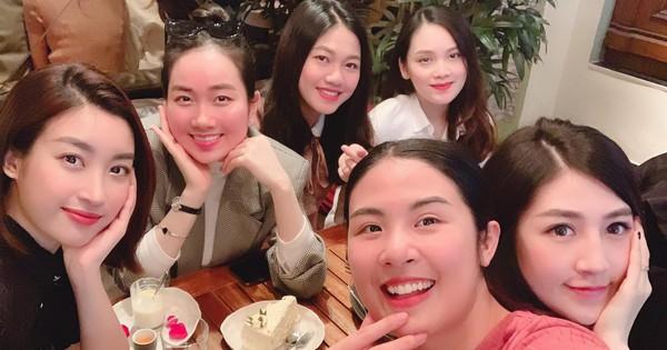 Ngọc Hân đón sinh nhật muộn với ''hội chị em'' toàn các nàng hậu: Thanh Tú đang mang thai, Tú Anh hết kỳ ở cữ cùng lộ diện!