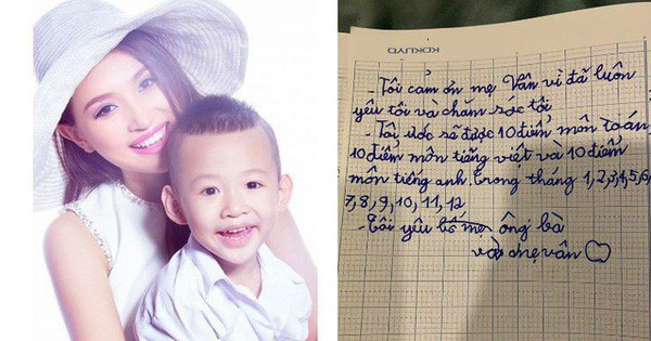 Lỡ viết hai chữ ''bố mẹ'' rồi lại gạch đi vì nhận ra một điều - nhật ký của con trai Vân Hugo khiến nhiều người cảm động