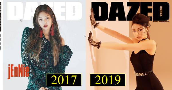 Cùng lên bìa 1 tạp chí nhưng sau 2 năm, vẻ đẹp và thần thái của Jennie (Black Pink) đã thay đổi ngoạn mục