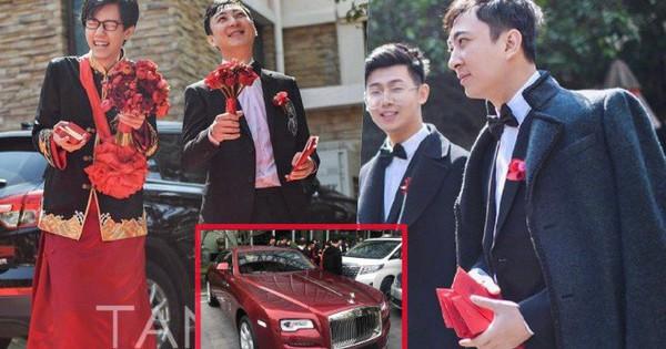 Đám cưới hot nhất hôm nay: Thiếu gia giàu nhất Trung Quốc làm phù rể, tặng ''nóng'' cô dâu chú rể 1 chiếc Roll Royce