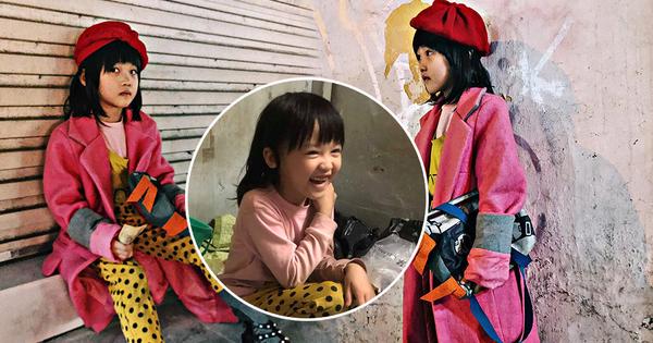 """Cô bé 6 tuổi ở Hà Nội gây chú ý với thần thái cùng cách phối quần áo cũ cực """"chất"""""""