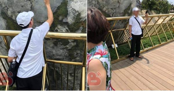 Góc thở dài: Sau đỉnh Fansipan, đến lượt Cầu Vàng Đà Nẵng bị giới trẻ vẽ bậy không thương tiếc bằng bút xoá