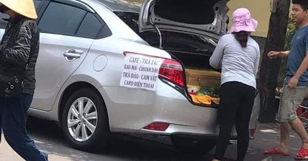 Chẳng cần xe đẩy cho mệt nhọc, chị gái đi bán trà tắc dạo bằng… ô tô, chứng minh làm vì đam mê là có thật