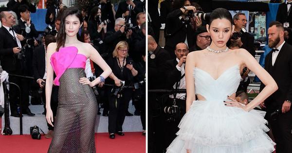 2 thái cực của 2 chân dài Victoria''s Secret Trung Quốc tại Cannes: Ming Xi như công chúa, Sui He phô phang đến ''bức người''