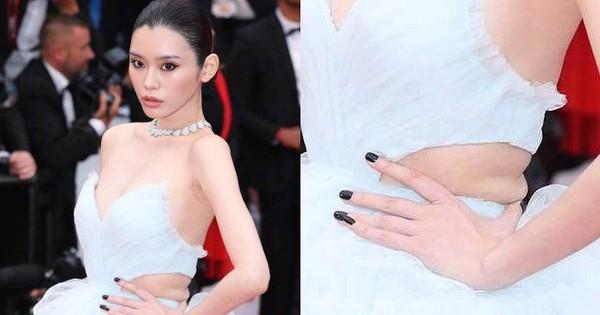 Vòng eo ngấn mỡ tại Cannes là minh chứng ''cưới chạy bầu'' của Ming Xi với thiếu gia tỷ đô Hà Du Quân?