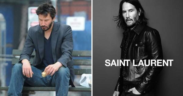 Không còn là ''tài tử chán đời'', Keanu Reeves giờ đã là gương mặt đại diện ''chất như nước cất'' của Saint Laurent