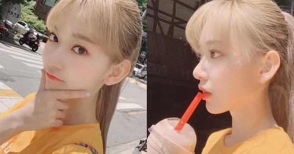 Thêm một idol được khen ''búp bê sống'' sau Lisa (Black Pink) vì nhuộm tóc vàng xinh xuất sắc