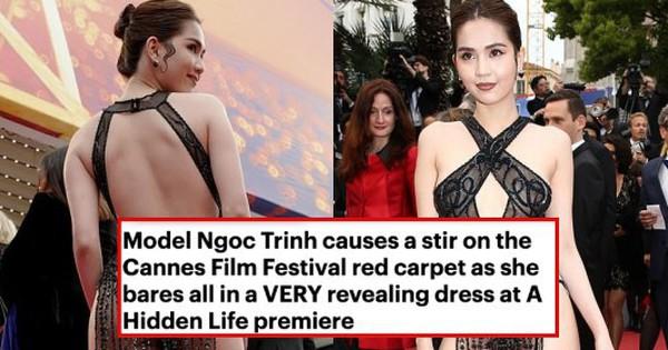 Báo Anh soi cận cảnh màn xuất hiện của Ngọc Trinh trên thảm đỏ Cannes, sốc hơn khi đọc bình luận từ dân mạng quốc tế