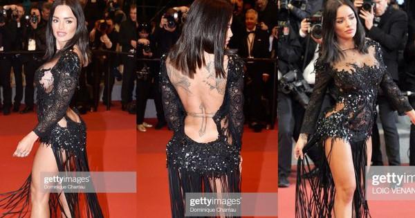 Xuất hiện người đẹp vô danh ăn mặc giống Ngọc Trinh tại Cannes nhưng liệu có đọ được về độ táo bạo, khoe da thịt?