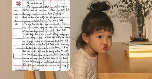 """Muốn mượn điện thoại của mẹ đi dã ngoại, cô con gái lớp 7 viết bức thư tay cực dễ thương: """"Con sẽ rất vui lòng được hôn lên trán mẹ…"""""""
