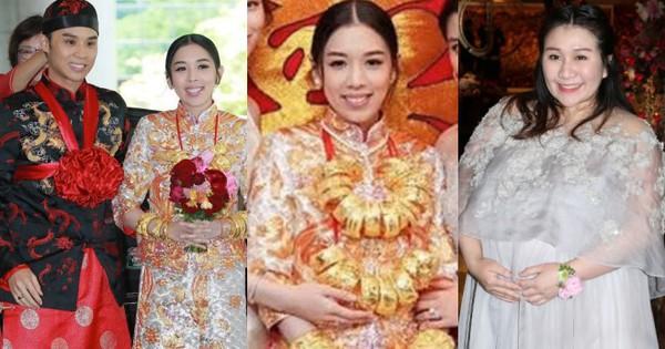 Thiên kim Hong Kong đeo trĩu cổ 30 vòng long phụng vàng ròng, ái nữ trùm sòng bạc Macau khệ nệ bụng bầu làm phù dâu
