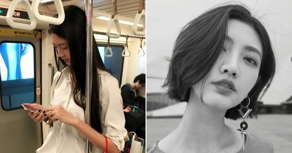 Cô gái giản dị vẫn nổi bật cả góc tàu điện ngầm, biết được danh tính lại càng bất ngờ hơn