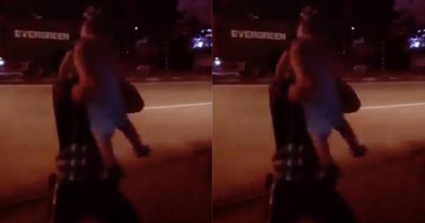 Clip tài xế container băng qua đường để gặp vợ con, con trai nhỏ dang tay sà vào lòng bố gây xúc động mạnh