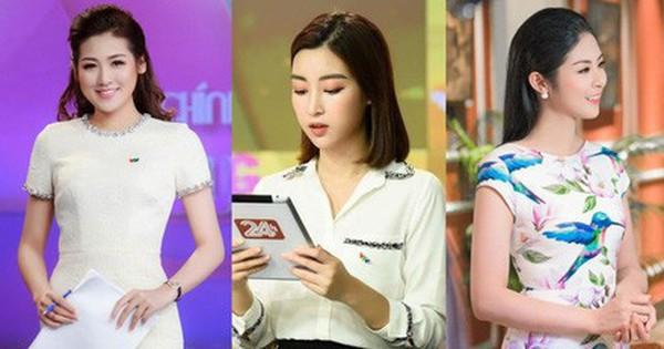 Style của các Hoa hậu, Á hậu khi làm BTV truyền hình: Người ''bánh bèo'' hơn thường, người đầy màu sắc nhưng đều 100% thanh lịch