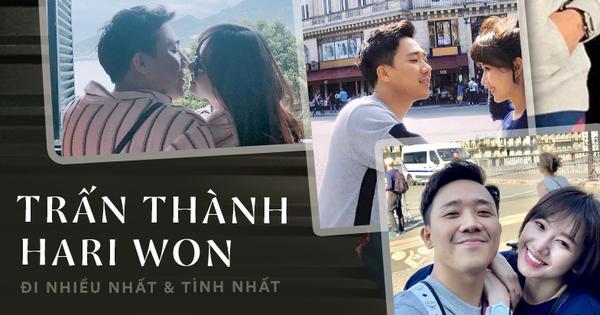 """Không hổ danh là cặp đôi tình nhất Vbiz, Trấn Thành - Hari Won đi du lịch bao giờ cũng phải check-in mấy kiểu """"sến"""" như này mới chịu!"""