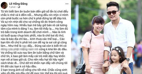 Quán chè của vợ diễn viên Hồng Đăng bị tố, nam diễn viên đăng status đang bị ''chơi đểu''