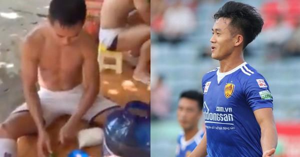 Cầu thủ V.League học Bà Tân vê lốc, pha bình nước chanh ''siêu to, siêu chua, khổng lồ'' cho cả đội giải nhiệt