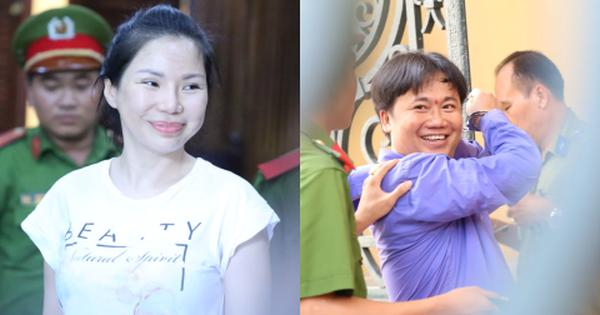 Vợ cũ và các bị cáo được thuê truy sát bác sĩ Chiêm Quốc Thái tươi cười đến tòa trước giờ tuyên án