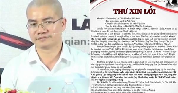 CEO địa ốc Alibaba bất ngờ xin lỗi sau những phát ngôn ngông cuồng xuất hiện trên mạng xã hội
