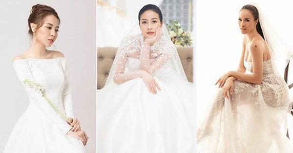 So kè váy cưới của 3 mỹ nhân Vbiz sắp về nhà chồng: Phí Linh nền nã, Phương Mai sexy nhưng bất ngờ nhất là Đàm Thu Trang