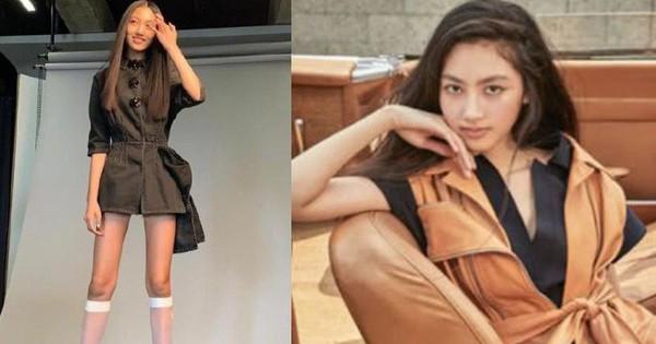 """Kiều nữ 14 tuổi nhà """"ông hoàng phim 18+ Hong Kong"""" gây sốt: Cao 1m8, chân dài miên man không có đối thủ"""