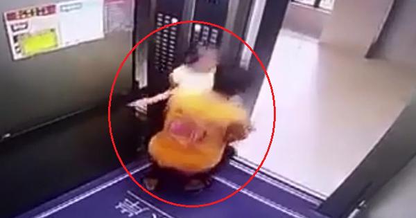 Clip: Tên shipper biến thái cố tình đưa bé gái ra khỏi thang máy để giở trò đồi bại mặc cho nạn nhân ra sức chống trả