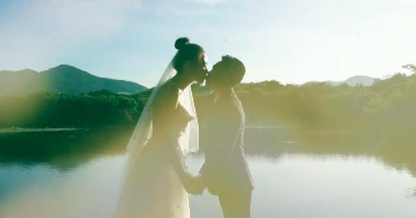 Sốt xình xịch clip cưới của Cường Đô La và Đàm Thu Trang: Khoá môi cực ngọt, ''nắm tay đi khắp thế gian'' bằng siêu xe
