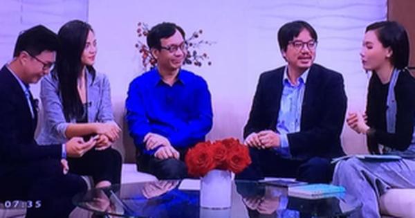 ''Chị Huệ'' Thu Quỳnh từng tỉnh bơ mặt đối mặt với ''tình tin đồn'' của chồng trên sóng truyền hình