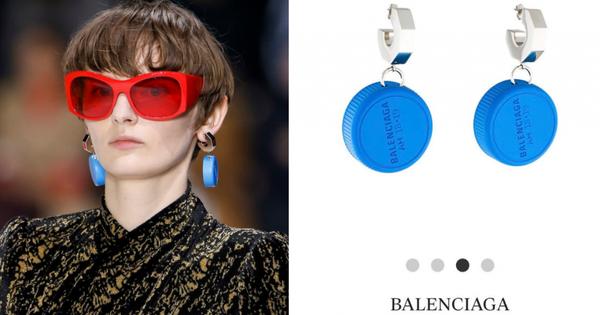 Vẫn là Balenciaga biết cách ''làm tiền'' giới mộ điệu: gom nắp chai nhựa về làm khuyên tai rồi bán hơn 10 triệu