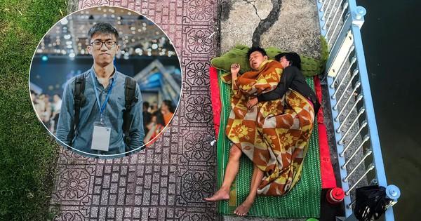 Tác giả bức ảnh 2 vợ chồng vô gia cư ôm nhau ngủ dưới chân cầu ở Sài Gòn: ''Có lẽ mình sẽ quay lại đó gặp họ''