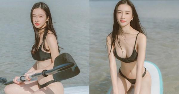 Jun Vũ đi chèo thuyền nhưng chủ yếu lại khoe body, khoe ngực triệt để, lần này tạo dáng thật sự ''câu dẫn''