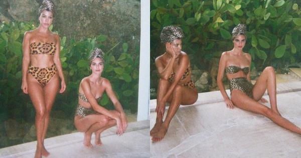Chị em Kardashian diện bikini đọ sắc: Đôi chân của Kendall cực phẩm đến mức khiến Kourtney chỉ còn biết tựa cằm, co ro