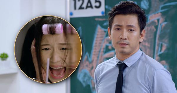 ''Thầy giáo'' Đỗ An làm ''nữ sinh'' Han Sara... hai vạch trong teaser Siêu Quậy Dính Bầu?
