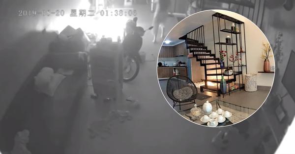 Clip: Quạt tích điện đang sạc bất ngờ phát nổ lúc nửa đêm, cư dân mạng hốt hoảng vì cháy lớn ngay cạnh bếp ga và xe máy