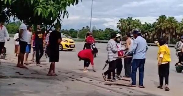 Clip: Nhóm nữ sinh đánh hội đồng thiếu nữ giữa đường phố, cầm gậy vụt vào người nhau như giang hồ