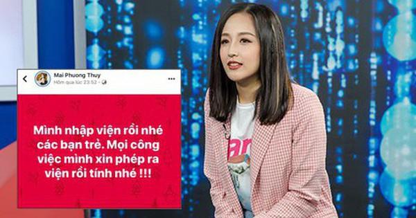 Dàn sao Việt và fan dậy sóng vì Mai Phương Thúy thông báo nhập viện giữa đêm, chuyện gì đây?
